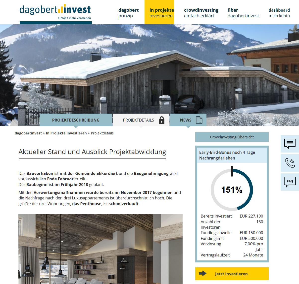 Dagobert Invest Projektdetails