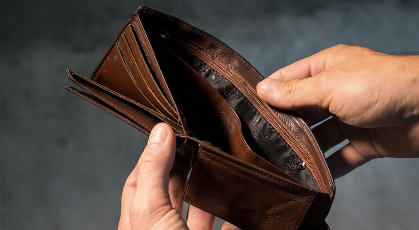 Kein Geld am Ende des Monats