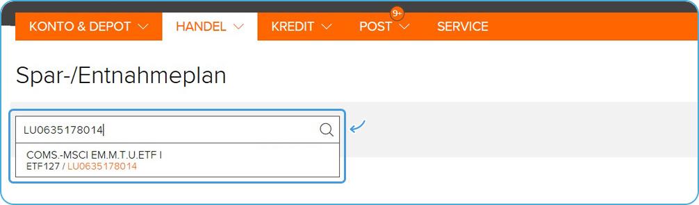 flatex Sparplan einrichten ETF Suche